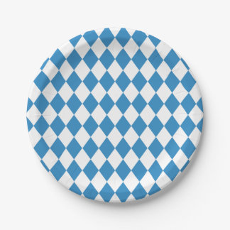 Beiers Geometrisch Patroon voor Oktoberfest. Papieren Bordje