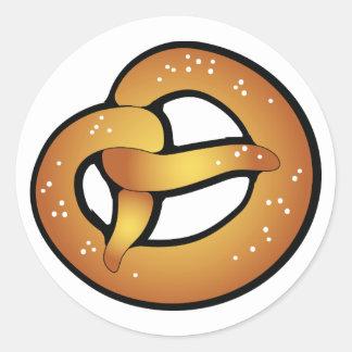 Beierse pretzel ronde sticker