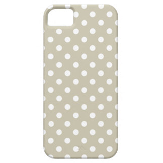 Beige Neutrale Retro Vintage Preppy van Stippen Barely There iPhone 5 Hoesje