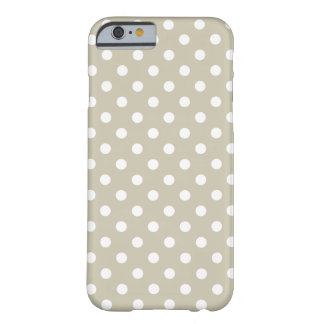 Beige Neutrale Retro Vintage Preppy van Stippen Barely There iPhone 6 Hoesje