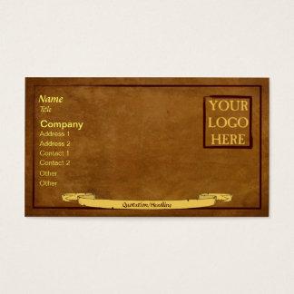 Bejaarden-blik Visitekaartje met Rol Visitekaartjes