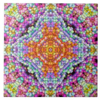 Bel-mozaïek diamant-Ster de Tegel van Mandala Keramisch Tegeltje
