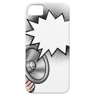 Bel van de Toespraak van het Boek van de megafoon Barely There iPhone 5 Hoesje