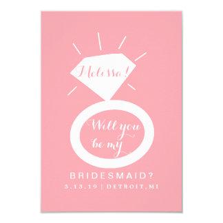 Bel zult u Mijn Kaart van het Bruidsmeisje zijn - 8,9x12,7 Uitnodiging Kaart