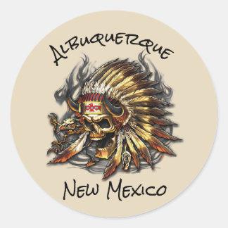 Belangrijkst Bot Albuquerque New Mexico Ronde Sticker