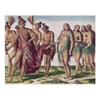 Belangrijkste Satouriona en zijn Vrouw gaan voor Briefkaart