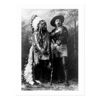 Belangrijkste Stier en Buffalo Bill 1895 van de Briefkaart