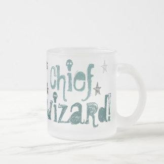 belangrijkste tovenaar! berijpte glasmok matglas koffiemok