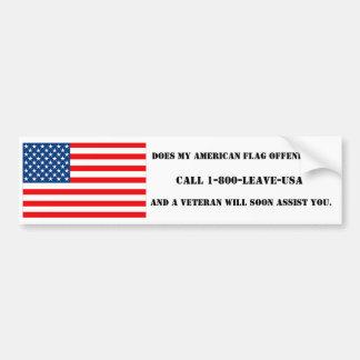 Beledigt Mijn Amerikaanse Vlag u? - Bumpersticker