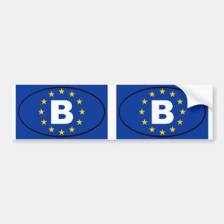 België - B - het ovaal van de Europese Unie Bumpersticker