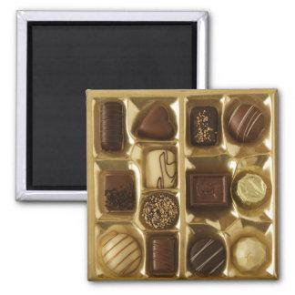 Belgische chocolade vierkante magneet