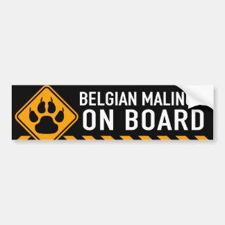 Belgische Malinois aan boord Bumpersticker
