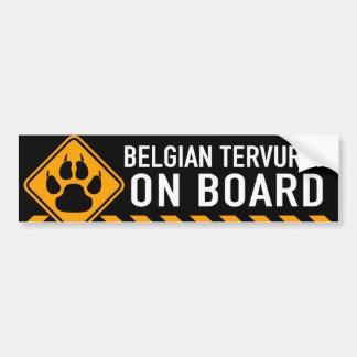 Belgische Tervuren aan boord Bumpersticker