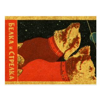Belka en Strelka Briefkaart