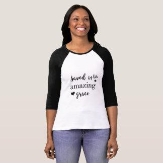 Bella van vrouwen+Canvas 3/4 Raglan van het Sleeve T Shirt