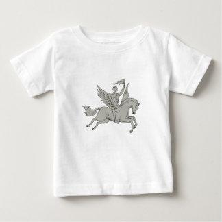 Bellerophon die de Tekening van de Toorts van de Baby T Shirts