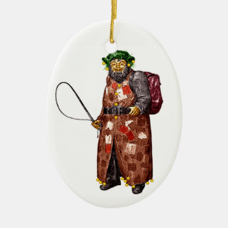 Belsnickel Keramisch Ovaal Ornament