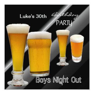 Bemant de 30ste Nacht van de Jongens van het Bier 13,3x13,3 Vierkante Uitnodiging Kaart