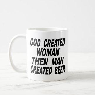 Bemant de god Creëere Vrouw dan Creëer Bier Koffiemok