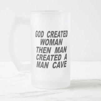 Bemant de god Creëere Vrouw dan Creëer een Hol van Matglas Bierpul