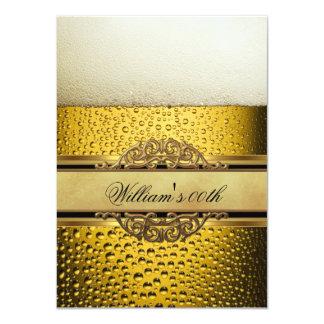 Bemant Partij van de Verjaardag van het Bier de 11,4x15,9 Uitnodiging Kaart