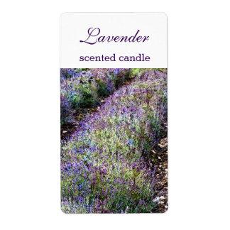 bemerkte lavendel het gebied candlecustomized etiket