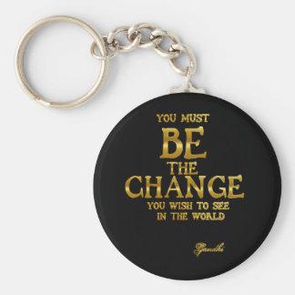 Ben de Verandering - het Inspirerend Citaat van de Sleutelhanger
