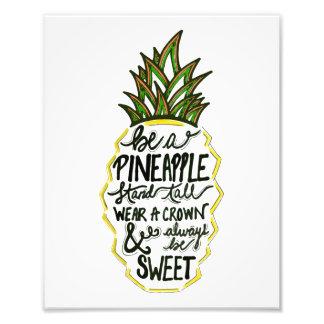 Ben een Ananas Foto Afdrukken