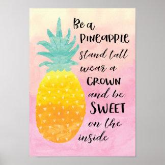 Ben een Ananas Poster