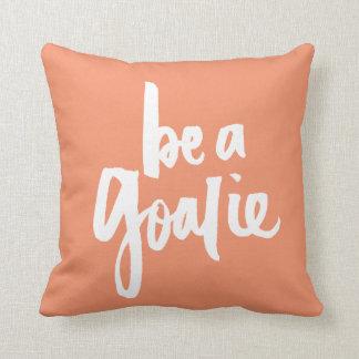 Ben een Goalie - het van letters voorzien van de Sierkussen