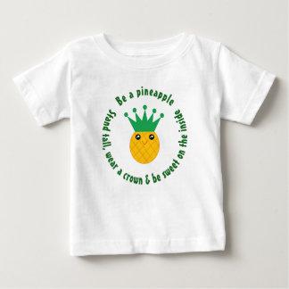 Ben een Inspirerend Citaat van de Ananas Unisex- Baby T Shirts