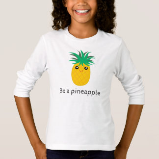 Ben een Lange Tribune van de Ananas Zoet is T Shirt