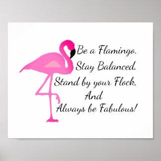 Ben een Poster van de Flamingo