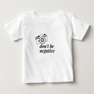 Ben het geen Negatieve Overhemd van de Fotografie Baby T Shirts