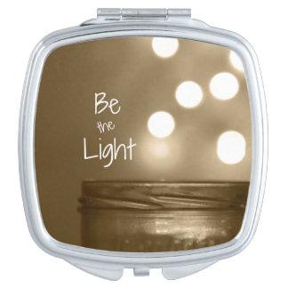 Ben het Lichte Inspirerend Citaat Make-up Spiegeltje
