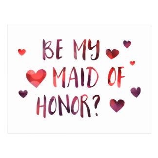 ben mijn eerste bruidsmeisje bokeh briefkaart