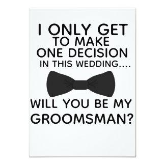Ben Mijn Groomsman Kerstmis van het Kaart