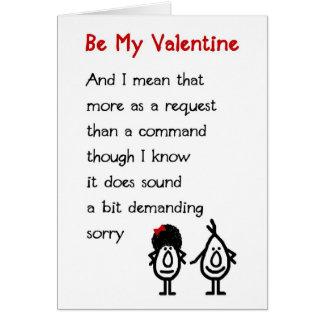 Ben Mijn Valentijn - het Gedicht van grappig Wenskaart