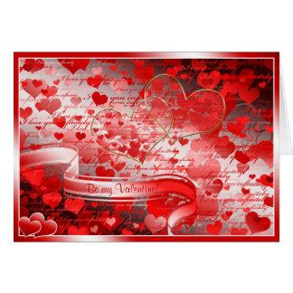 Ben mijn Valentijn Wenskaart