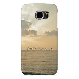 Ben nog en ken het Vers van de Bijbel Samsung Galaxy S6 Hoesje