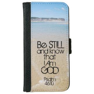 Ben nog en weet ik het 46:10 van de Psalm van het iPhone 5 Portefeuille Hoesje