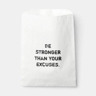Ben sterker dan uw verontschuldigingen.  Motivatie Bedankzakje