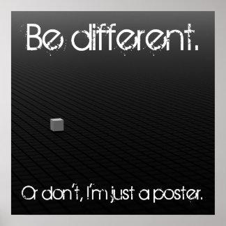 Ben verschillend of niet poster