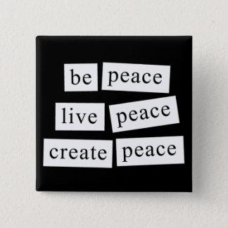 Ben Vrede Vierkante Button 5,1 Cm
