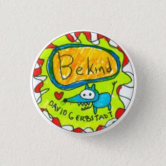Ben Vriendelijke blauwe hond met hart Ronde Button 3,2 Cm