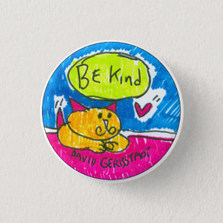 Ben Vriendelijke gele kat met hart Ronde Button 3,2 Cm