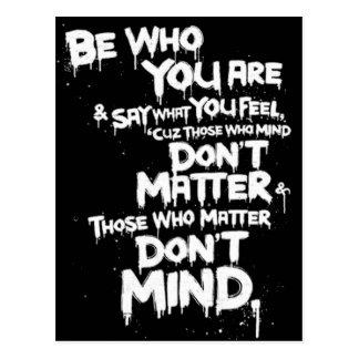 Ben Who u bent en zegt Wat u… Briefkaart