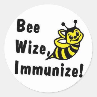 Ben Wize immuniseren! Ronde Sticker
