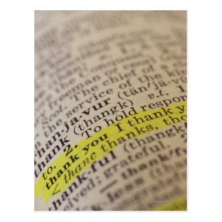 Benadrukte woordenboekingang briefkaart