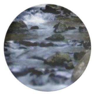 benedenwaartse stroom van kreek bord